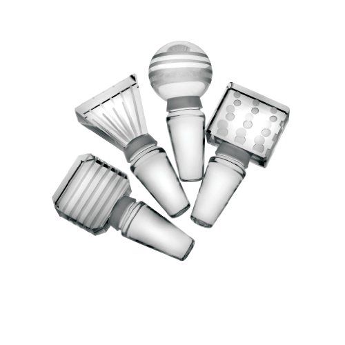 Mikasa Cheers Set of 4 Glass Bottle Stoppers