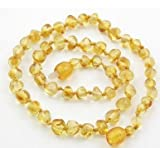 Baltic Amber Baby Teething Necklace - Round Honey Lemon