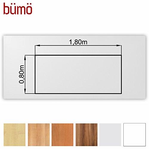 Bm-stabile-Tischplatte-25-cm-stark-DIY-Schreibtischplatte-aus-Holz-Brotischplatte-belastbar-mit-120-kg-Spanholzplatte-in-vielen-Formen-Dekoren-Platte-fr-Bro-Tisch-mehr-Rechteck-180-x-80-cm-Wei