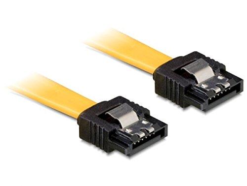 DELOCK Kabel SATA 6Gb/s 10cm gelb ge/ge Metall