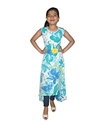 Titrit Flower Printed Cape Dress Without Legging
