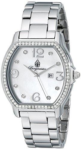 Burgmeister Vancouver Bm506-111 Ladies Analogue Quartz Wristwatch Stainless Steel Bracelet Date