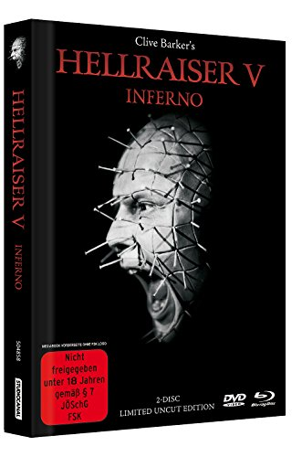 Hellraiser 5 - Inferno - Limited Uncut 2-Disc Mediabook (DVD+Blu-ray Disc) - Black Edition [Limited Edition]