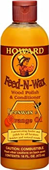 Howard FW0016 Feed-N-Wax Wood Polish and Conditioner 16-Ounce