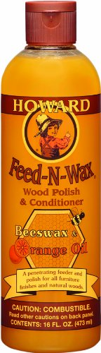 Howard FW0016 Feed-N-Wax Wood Polish and Conditioner, 16-Ounce image