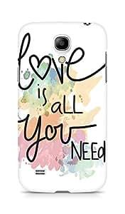 Amez designer printed 3d premium high quality back case cover for Samsung Galaxy S4 Mini (Love Quote 6)