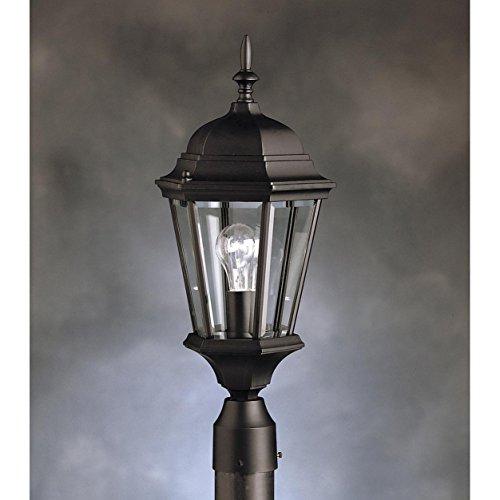 Kichler Landscape Lighting Warranty : Kichler bk madison outdoor post watts black