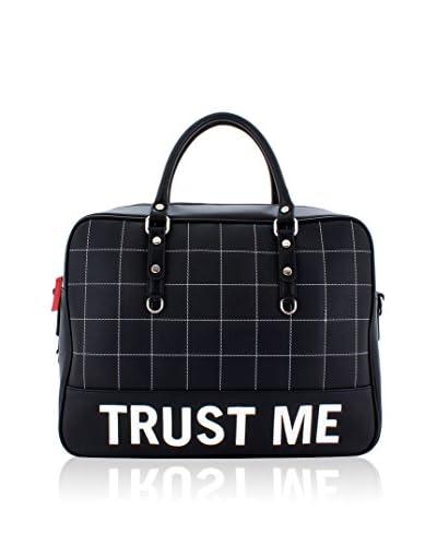 davidelfin Bolso asa de mano Trust Bag Negro / Blanco