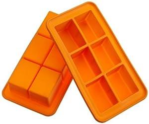Casabella Silicone Big Cube Ice Cube Tray, Set Of 2