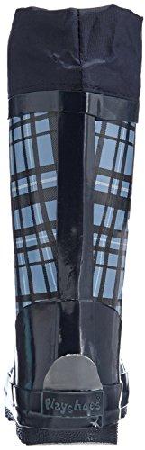 Playshoes Gummistiefel Karo aus Naturkautschuk - mit Reflektor 188651, Jungen Gummistiefel, Blau (blau 7), EU 22/23 -