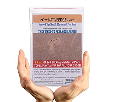 ✮Top Rated✮Metatarsal Pads By NATIVE EDGE✮7PAIR✮Comfortable Supports Releif Pain✮100%Money Back Guarantee