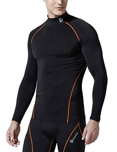TM-T32-BO_Medium j-RAL Tesla Men's Thermal Coldgear Compression Baselayer Mock Long Sleeve T Shirts T32 (Thermal Shirts Long Sleeve Women compare prices)