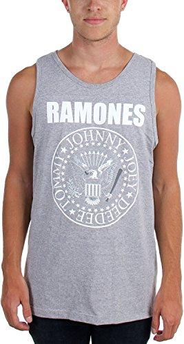 Ramones, Sigillo-Canottiera da uomo, colore: bianco grigio