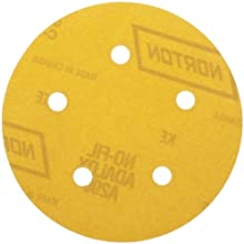 Norton A290 Hook-and-Loop Disc, Paper Backing, Aluminum Oxide, 5 Hole