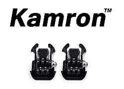 Kamron 2x Black Buckle Basic Mount, for GoPro Hero 4 3+/3/2/1