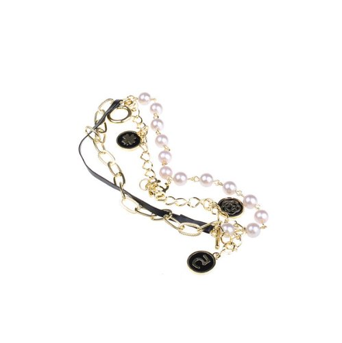 BestDealUSA Fashion Golden Multi Layer Elements Retro Pearl Bracelet New Black