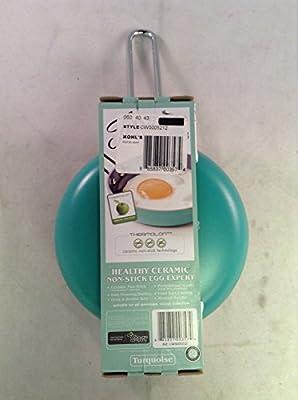 """New Fiesta Aluminum Non-Stick 5"""" Ceramic Egg Pan Turquoise Colored"""