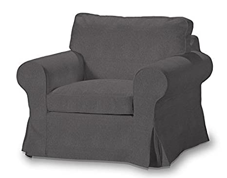 FRANC Textile 612-705-35 Ektorp Arm Chair One Seater Burdeaux Fabric Sesselhusse, Etna, Ektorp Armchair Dark Grey by FRANC-TEXTIL
