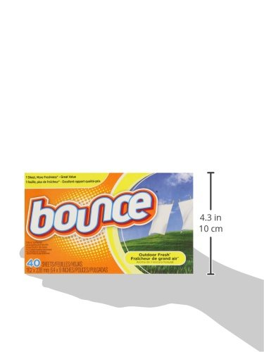 Bounce Outdoor Fresh Fabric Softener Sheets 40 Count Home