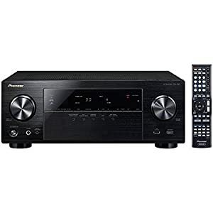 Pioneer VSX-1024 7.2-Channel Network A/V Receiver (Black) + Pioneer SP-BS22-LR Andrew Jones Designed Bookshelf Loudspeakers + Pioneer SP-C22 Andrew Jones Designed Center Channel Speaker + 2 Pioneer SP-FS52-LR Andrew Jones Designed Floor standing Loudspea