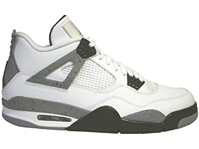 NIKE AIR JORDAN 4 RETRO MENS 308497-103 (11.5, WHITE/BLACK
