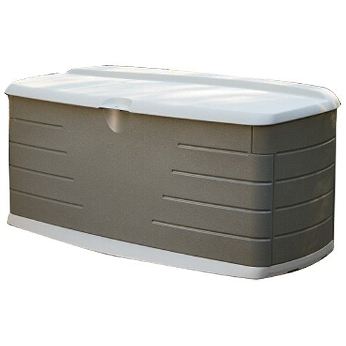 Rubbermaid Deck Box with Seat, 12 Cubic Feet (FG5F2200OLVSS) image