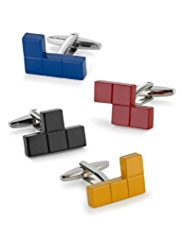 4 Tetris Design Cufflinks