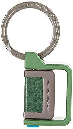 Piquadro PC3344P15/VE Pulse Portachiavi, Verde, 7 cm