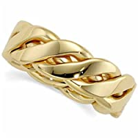 14Kt Yellow Gold Ladies Hand Woven Gold Band