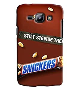 Blue Throat Snickers Choclate Printed Designer Back Cover For Samsung Galaxy J1