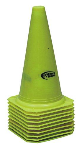 world-sport-juego-de-conos-304-cm-10-unidades-amarillo-amarillo