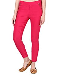 Guruji Creations Women's Slim Fit Jegging(GJC-Jeg-005_Pink_32)
