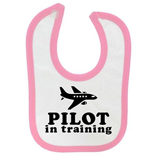 pilot-in-training-design-baby-bib-with-baby-pink-contrast-trim-black-print