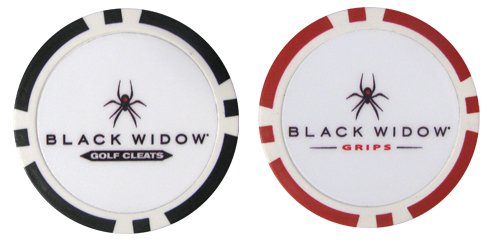 Golf Ball Logo Black Black Widow Golf Ball Marker