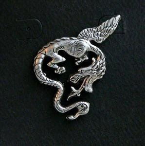 Flying Dragon Pewter Pin