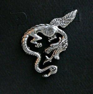 Flying Dragon Pewter Pin
