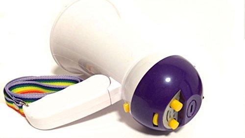選べるカラー 音楽付き 電池式 ミニ ハンドメガホン 小型 拡声器 (ネイビー)