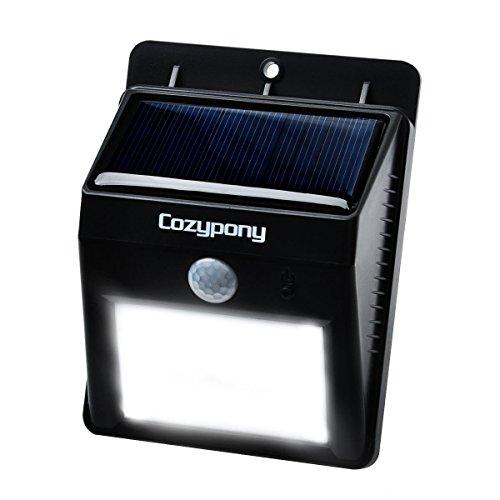Cozypony Solarleuchten 8 LED Wasserdichter Solar Betriebener Batterie- und Drahtloser Bewegungsmelder