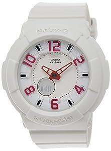 Casio Women's Baby-G BGA133-7B White Resin Quartz Watch with White Dial