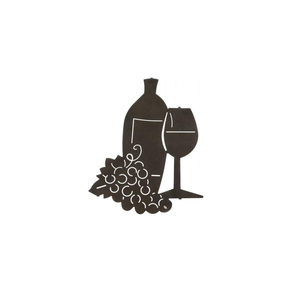 20 Lazart Metal Wall Art Wall Decor   In Wine We Trust