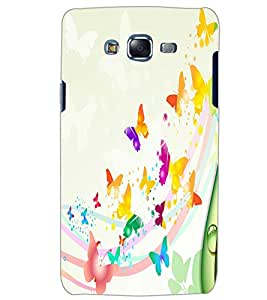 SAMSUNG GALAXY J5 BUTTERFLIES Back Cover by PRINTSWAG