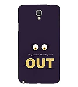 Funny Eyes Out 3D Hard Polycarbonate Designer Back Case Cover for Samsung Galaxy Note 3 Neo N7505