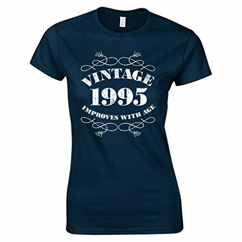 Women's 21st Birthday T Shirt Vintage 1995 21st Birthday Gifts M Navy Blue (Gifts For 21 Year Old Girl compare prices)