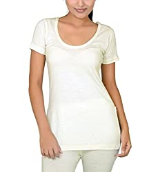 Romano Womens Wool Half Sleeve Off White Thermal