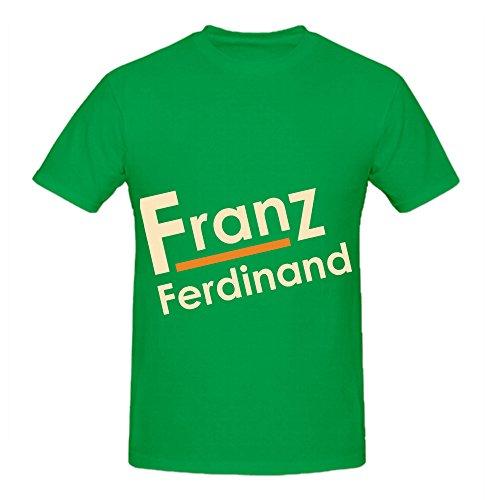 Franz Ferdinand Tracks Album Mens Crew Neck Printed T Shirt Green (Slip Stream Grease compare prices)