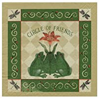 Alice's Cottage Beverage Napkins Pack of 20 - Alice Backman (Circle of Friends Frogs)