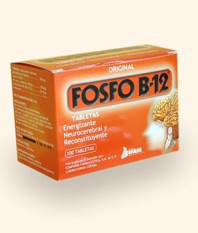 Fosfo B-12 (100 Tablets), Restorative Neurocerebral, To Improve Memory Skills, Concentration And Attention, Of All Those Mental Abilities And Combat Stress And Fatigue Both Physically And Nervous