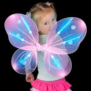 LED Pink Butterfly Wings Light Up