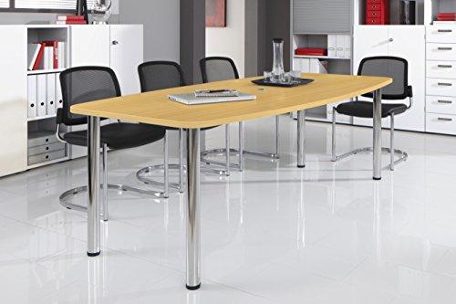 Bm-Konferenztisch-rund-oval-Besprechungstisch-mit-Chromfu-hochwertiger-Meetingtisch-in-2-Gren-und-6-Farben-Buche-220-x-103-cm