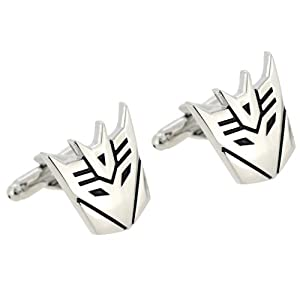 Sliver Transformer Decepticon Cufflinks